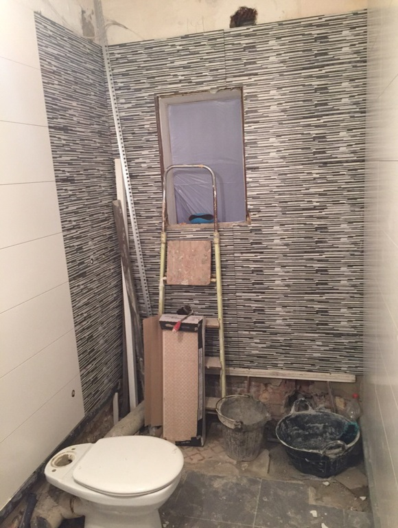 obra baño mitad faena calle teide hospitalet
